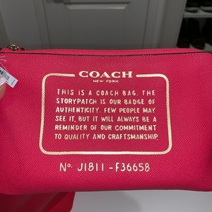 Coach Bags - Neon Pink Reversible Coach tote NWT